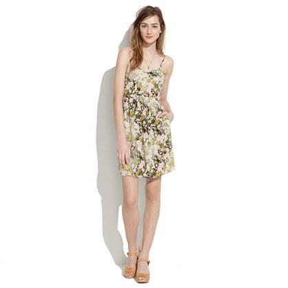 Silk Cami Dress in Sungarden - waist defined dresses - Women's DRESSES - Madewell