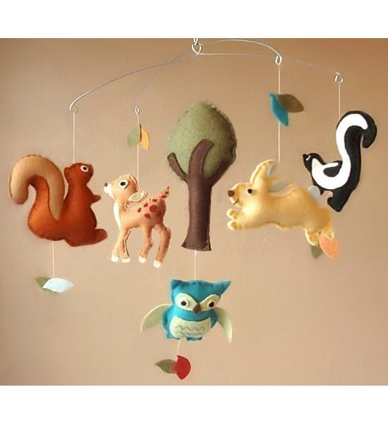 Woodland Creatures Baby Mobile