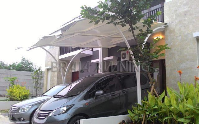 Tenda membrane untuk garasi mobil yang keren