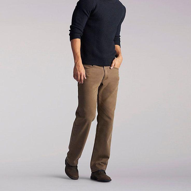 Lee Men's Flannel Lined Jeans::38:34