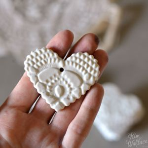 Vintage Lace Heart Giftag. $14.25 Available on the Artisan Online Store