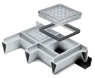 Glass Block Pavers With Aluminum Supporting Grid Systems Are An Excellent Way To Move Light Into