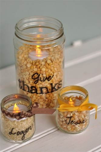 this is a cute idea just for ambiance...we could use come pretty cool stuff inside the jars.  I will start collecting now.