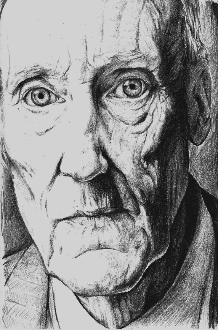 Pencil Sketch of William Burroughs
