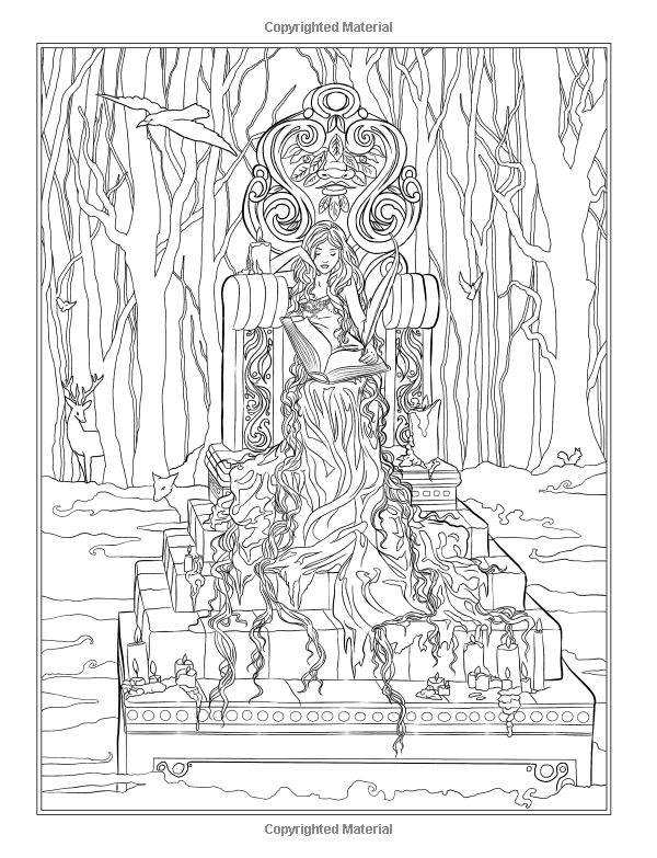 Gothic Dark Fantasy Coloring Book Fantasy Art Coloring
