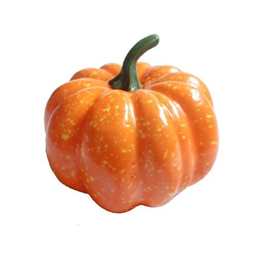 2 X 3 80mm Mini Artificial Pumpkins  Package of 12 -- For more information, visit image link.