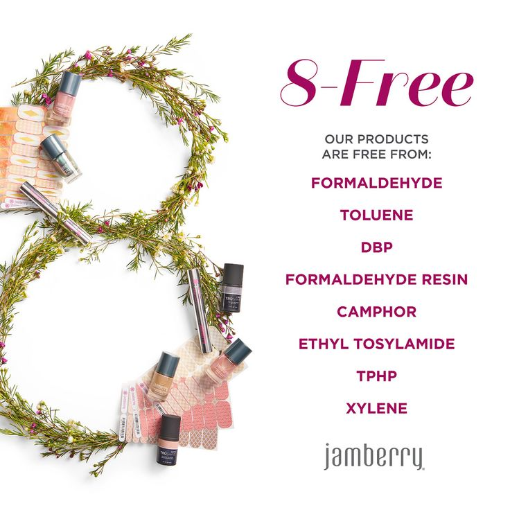 I love that Jamberry are 8 free.  #jamberry leciafloyd.jamberry.com