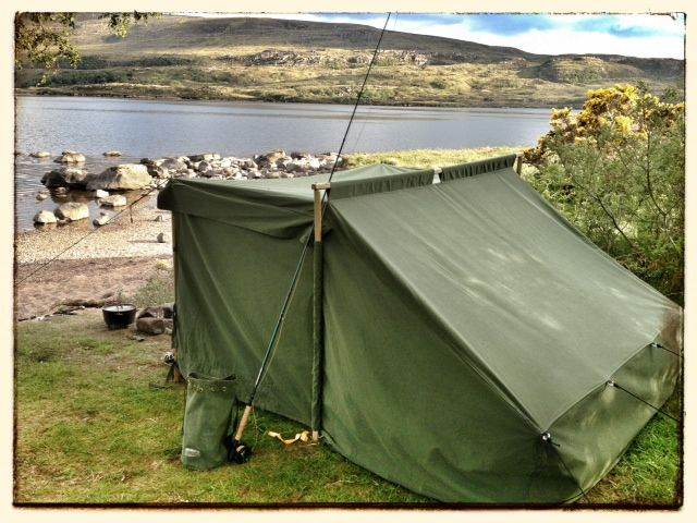 Wynnchester Baker Tent in Use in Scotland's Assynt Mountains