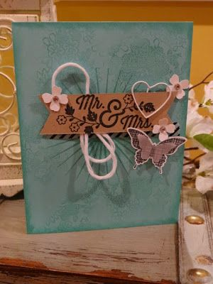 stampin up, Ink-a-Doodle Creations, for the new two, wedding handmade cards, something lacey, kinda eclectic, ssink
