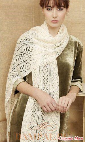 Ажурный шарф «Odisha» спицами - Вязание - Страна Мам