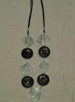 necklace with black nespresso capsules