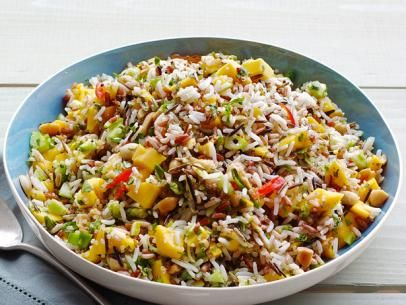 Mango-Cucumber Rice Salad from #FNMag: Food Network, Mango Cucumber Rice, Salad Recipes, Healthy Side Dishes, Rice Salad, Healthy Food, Healthy Recipes, Mango Rice, Mangocucumb Rice