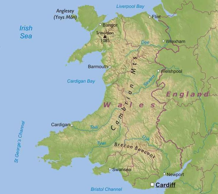Map Wales Uk Physical Map Of Wales United Kingdom Wales UK - United kingdom clickable map
