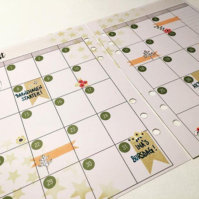 Neste måneds planlegging er i gang 😉 #hobbykunst #hobbykunstnorge #planner #kalender #filofaxing #kreativglede #rayher #ahaarts #distressink #simplestories #carpediemplanner #stempling