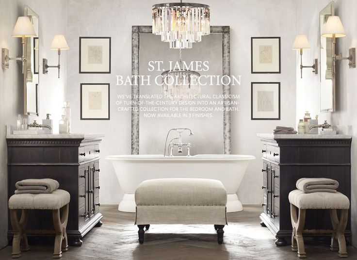 A fairytale home  A Classical Luxury Venetian Style Bathroom inspired by  restoration hardware69 best Restoration Style images on Pinterest   Home  Ideas and  . Hardware Bathroom. Home Design Ideas