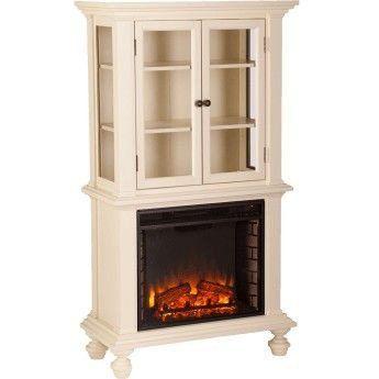 Curio Cabinet Electric Fireplace