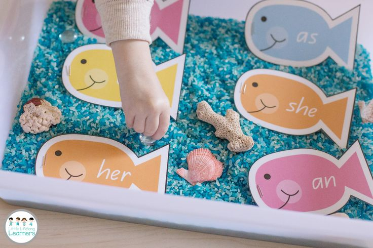 Sight Word Fishing Tub - Great way to reinforce sight words in the Kindergarten, Prep and Foundation classroom. Simply add your sight words, print, laminate and add a staple or paperclip and your little people can start fishing for sight words! | Little Lifelong Learners