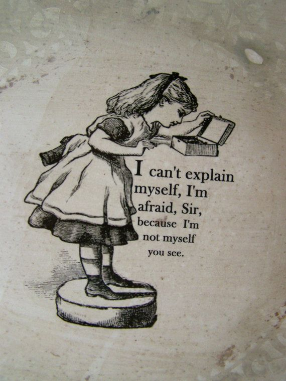 Antique Alice in Wonderland w quote Upcycled Large by SweetMeas, $65.00