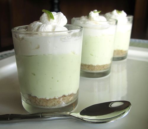 No-bake lime cheesecake shooters. Sugar free; gluten free; low carb!