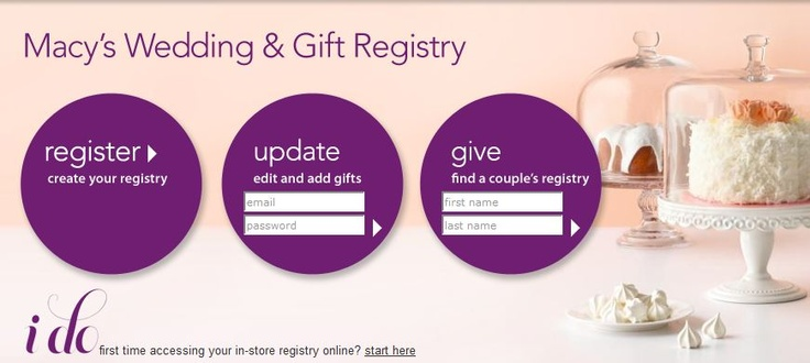 Wedding Registry Free Gifts: Registries: Different Types