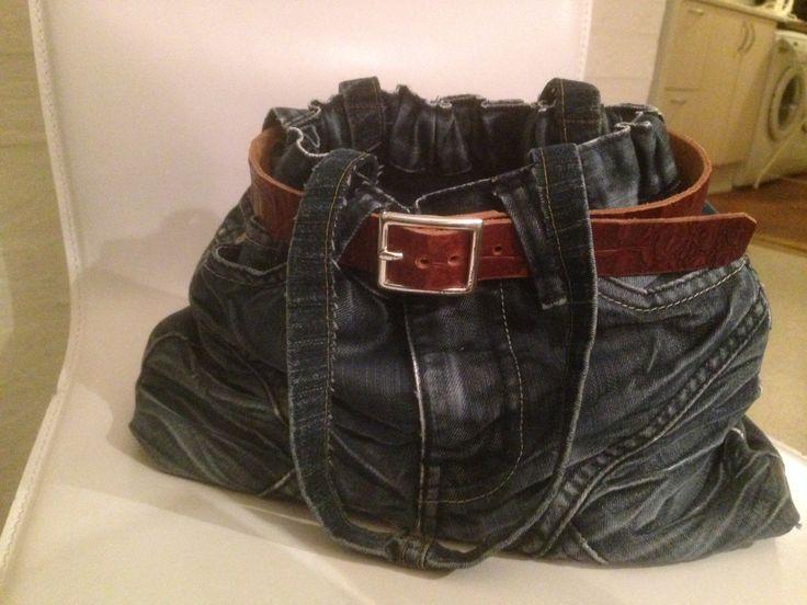 Taske syet af min søns aflagte bukser
