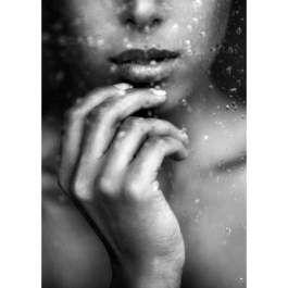 Personaliseer Modelfoto's op Poster / Forex Woman Rain