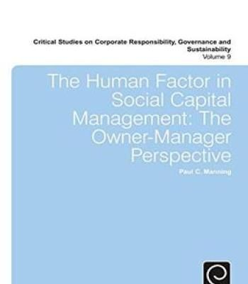 The Human Factor In Social Capital Management: The Owner-Manager Perspective PDF