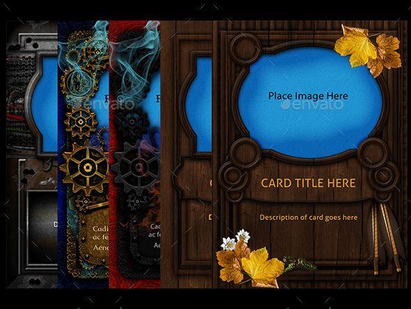 10 Collectable Card Templates Card Templates Card Design Card Template