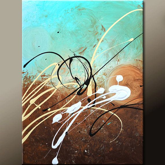 Abstract Art Painting on Canvas 18x24 Original Contemporary Modern Art Paintings by Destiny Womack - dWo -  Scattered - SUPER SALE