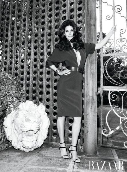 Courteney Cox: Harpers Bazaar cover girl