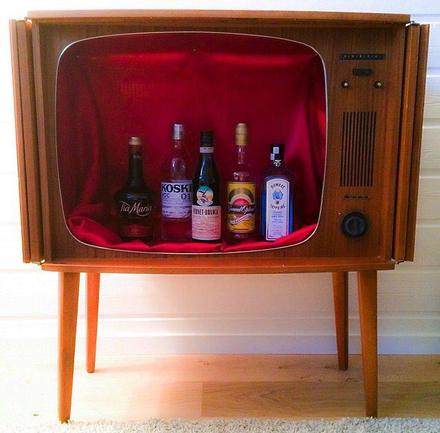 My retro TV-bar    #retrotv #bar #retrofurnitures #luxor #retroinspo #retroliving #retro #interior #retrointerior