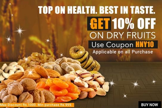 Buy Dry Fruits Online on Askmebazaar - Get FLAT 10 % OFF on Dry Fruits - Couponscenter