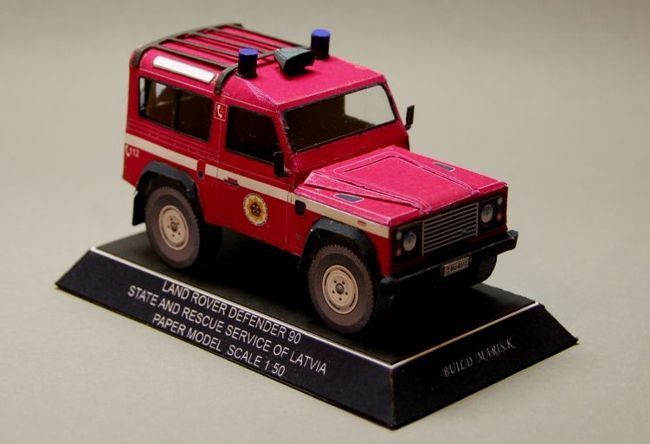 Latvia Fire Department Land Rover Defender 90 Free Vehicle Paper Model Download - http://www.papercraftsquare.com/latvia-fire-department-land-rover-defender-90-free-vehicle-paper-model-download.html#135, #Defender, #Defender90, #LandRover, #LandRoverDefender, #LandRoverDefender90, #SUV