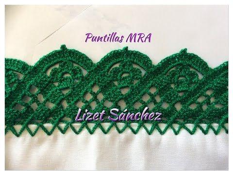 Puntilla para servilleta MRA Lizet Sanchez 5 2/2 - YouTube