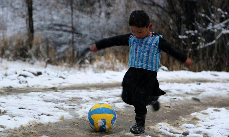 Afghan boy who had plastic bag Messi shirt meets his idol