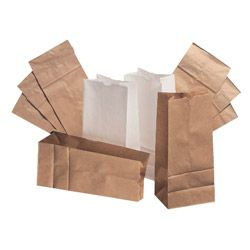 "Paper Bags & Sacks 4# Natural Paper Bag 5""x3 1/3""x 9 3/4"", 500/Bundle"