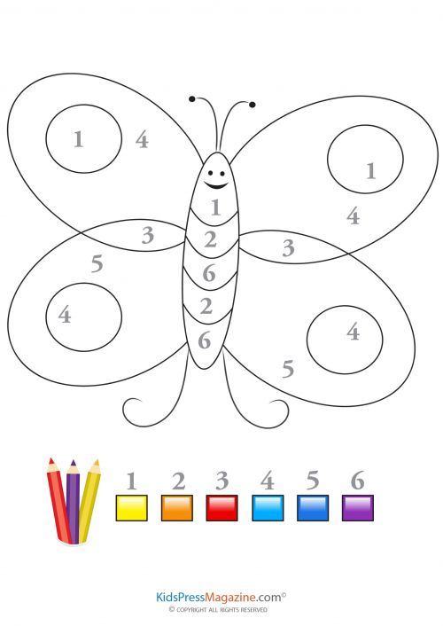 Fanciful Butterfly Color By Number   #ColorByNumber #Butterflies #Printable