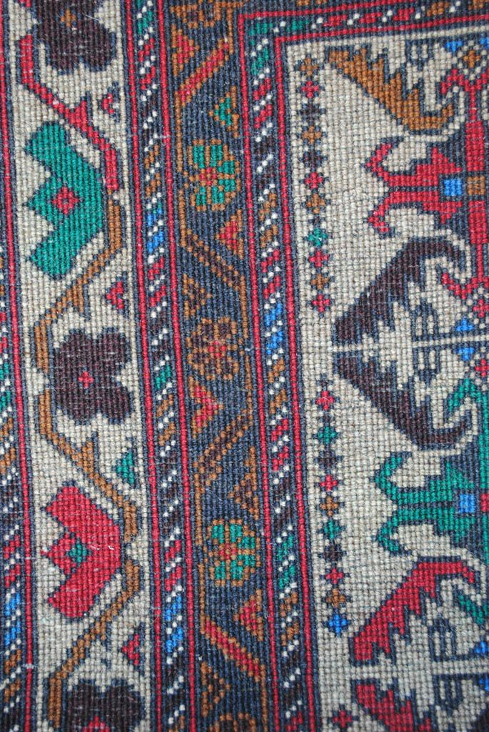 Handmade Woolen rug area BELUTCH 0,80x 1,40 cm  ( part of carpet) | ioakeimidis