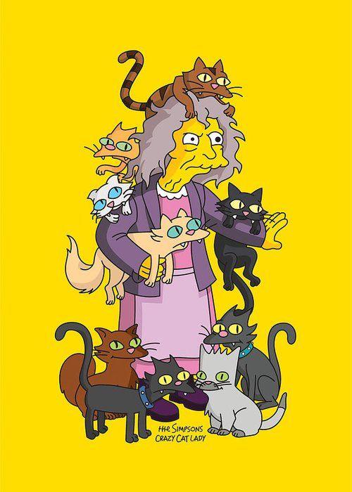 crazy cat lady simpsons