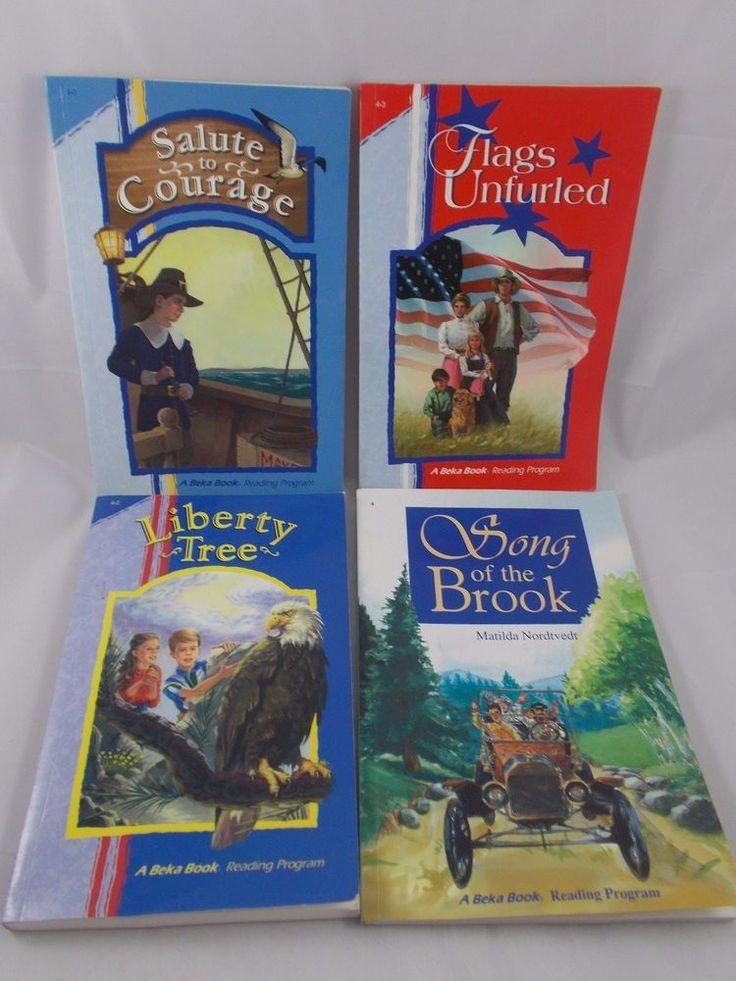 A Beka Reader Grade 4 Lot of 4 Books