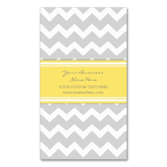 1653 best chevron zigzag business cards images on pinterest yellow gray chevron retro business cards colourmoves Gallery