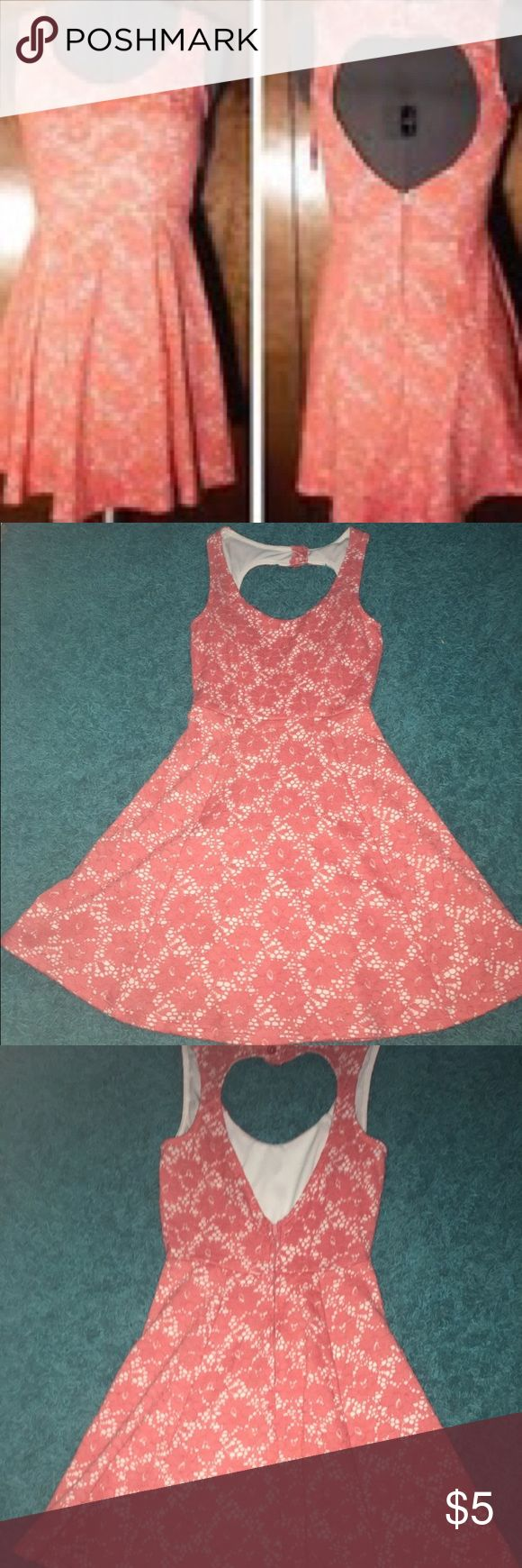 Pink Heart Cut Out Dress wet seal heart cut out dress, pink lace over a white cover, super cut for summer days! Wet Seal Dresses Mini