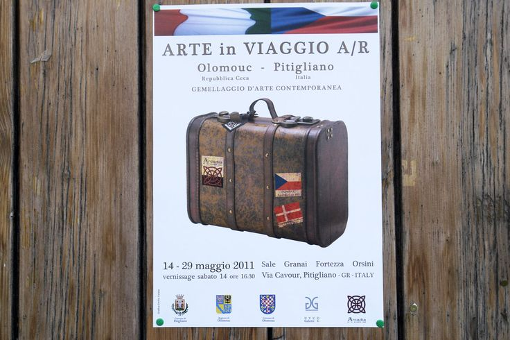 many thanks to mauro scampala and marek trizuljak who organised this art exhibition exchange between pitigliano artists ( tuscany ) and olomouc artists ( moravia )