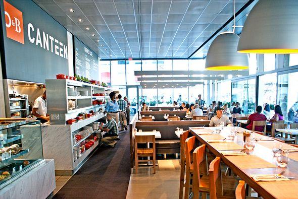 Crowded Restaurant Canteen Interior Design Office Design