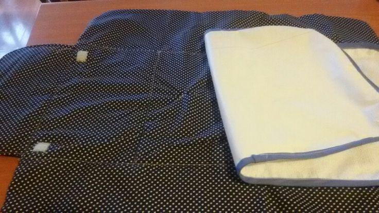 Interior mudador removible tela impermeable interior y velcro