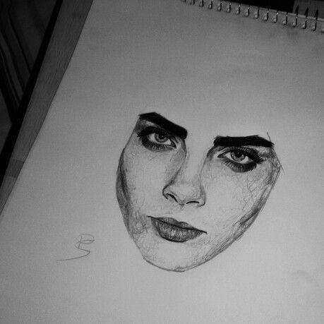 Cara Delevingne #draw #drawing #art #artist #desenho #desenhar #arte #artista #caradelevingne