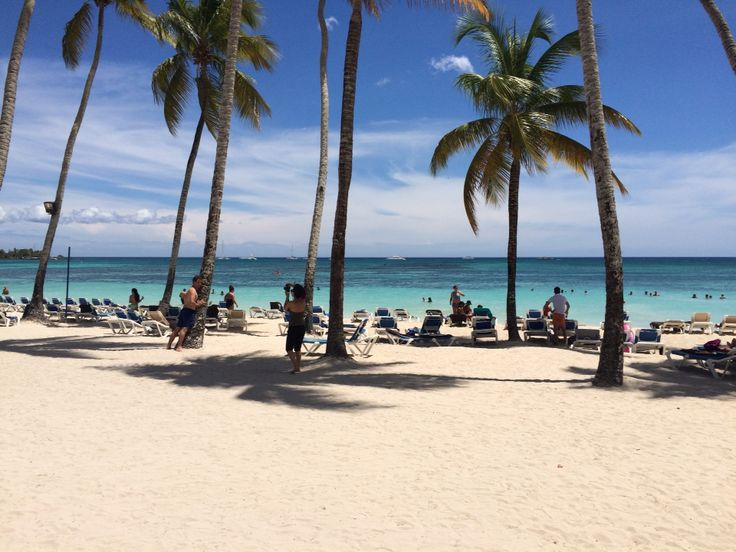 A beautiful view of the beach at La Romana, Dominican Republic. The hotel's name is Dreams La Romana Resort&Spa.