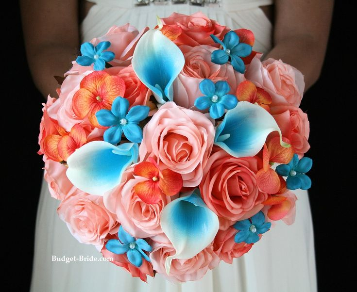 Coral Beach Wedding Flower Package