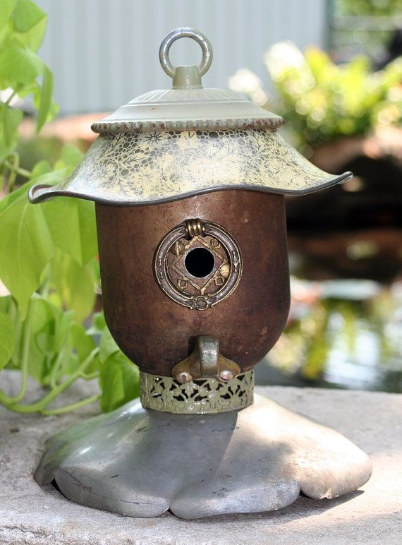 Birdhouse Reclaimed Items Found Objects Handcrafted by channa01