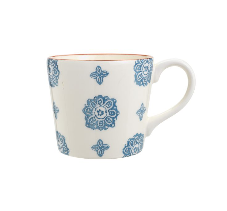 Inspired by hand-printed ceramic designs, the serene pattern on this mug will make for a relaxing tea or coffee break. Priced at £4.